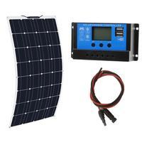 RG Solar panel system 100W Flexible solarpanel 12 volt 24 v solar Controller Photovoltaic energy for home