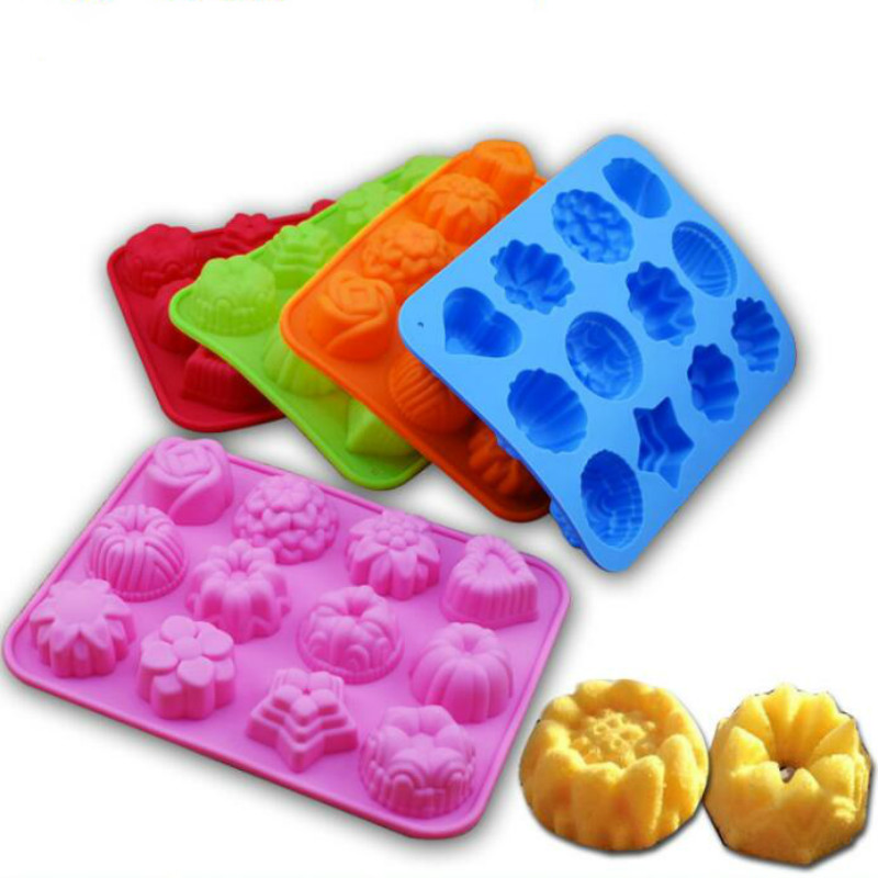 Image 3 - Cake Baking Mould  Silicone Soap Mold 3D Chocolate Supplies 12 hole Baking Pan Tray Molds  Candy Making Tool DIY Jelly mold-in Soap Molds from Home & Garden