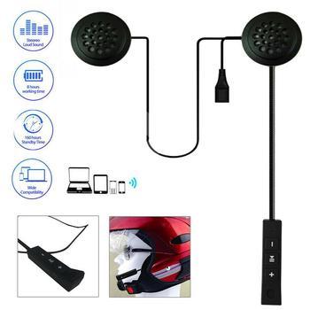 Moto Helmet Bluetooth 5.0 Headset Anti-interference For Motorcycle Helmet Riding Intercom Moto Hands Free Headphone MP3 Speakers