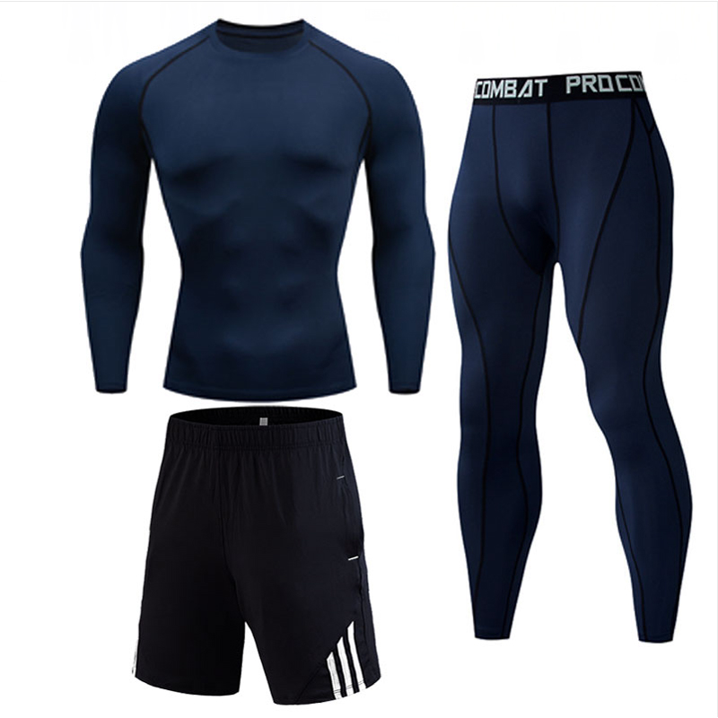 Thermal Underwear For Men Compression Clothing Sports Suit Tactical Pants Rashgarda MMA Winter Thermal Underwear For Running