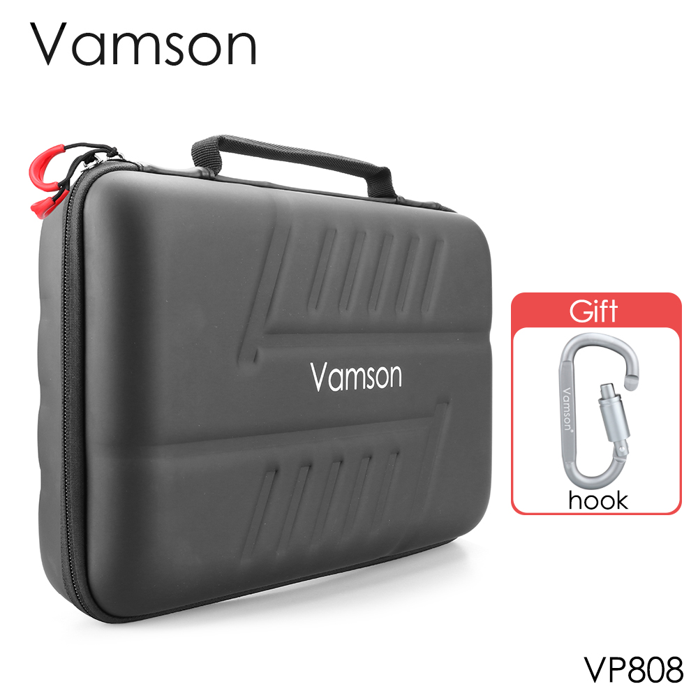 Vamson Large Waterproof Carrying Case PU For Gopro Hero 8/7/6/5 For DJI OSMO Action Camera For AKASO/YI Hard Shell Outdoor VP808