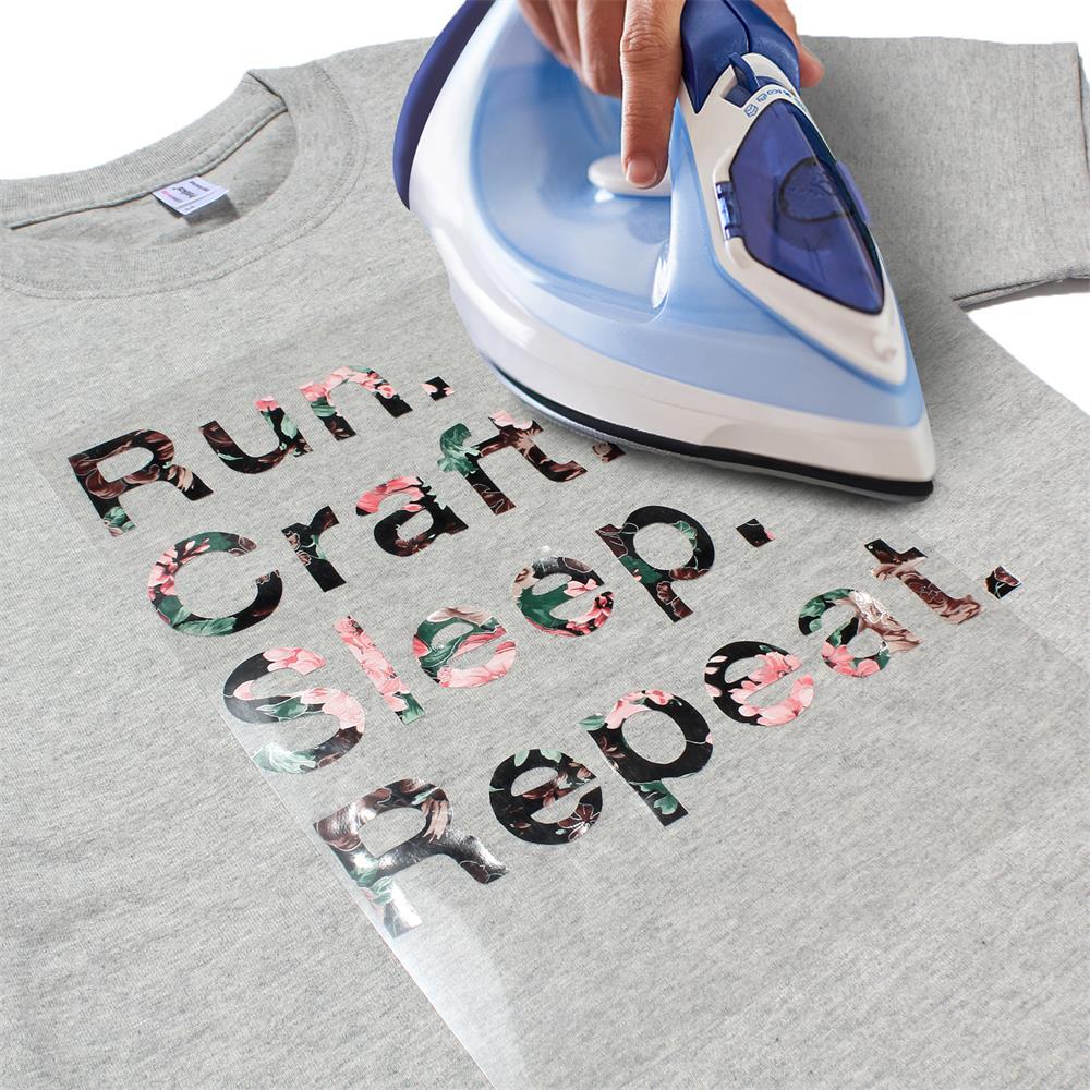 Sunice Blume muster Wärme Transfer Vinyl Film Eisen-auf HTV T-Shirt Textilien Cricut Film Wärme presse Vinyl 60cm x 50cm