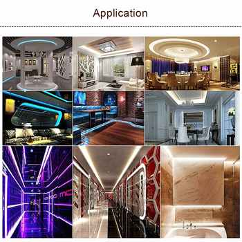 Bluetooth RGB LED Light Strip 5050 WiFi DC 12V Waterproof Flexible Ribbon Led Diode Tape 5M 60 LEDs/m + Controller Power Adapter