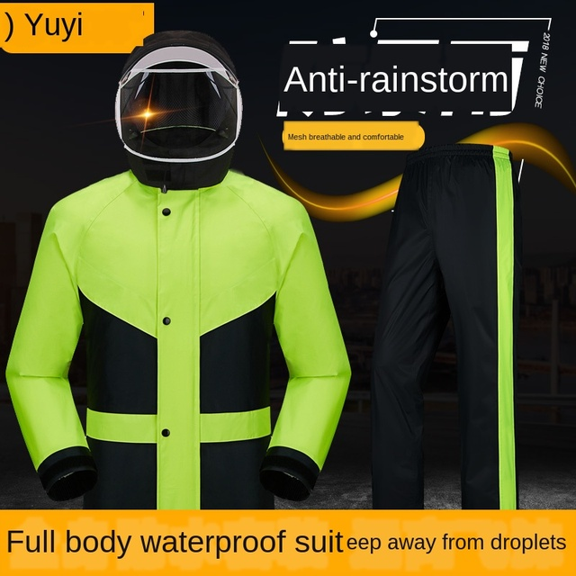Red Raincoat Rain Pants Suit Jacket Rain Coat Bicycle Riding Motorcycle Raincoat Rain Poncho Hiking Casaco Masculino Gift Ideas 1