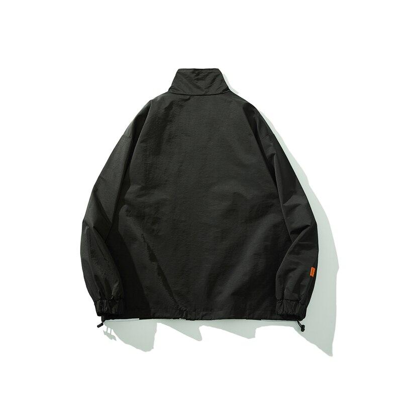 Bebovizi 2019 Men Hipster Streetwear Windbreaker Harajuku Black Track Jackets Hip Hop 3M Reflective Jacket Coat in Jackets from Men 39 s Clothing