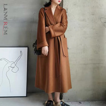 Cashmere Coat Bathrobe-Style LANMREM Water Autumn Double-Sided Long Women's Popular High-End
