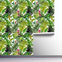 1pc DIY PVC Wall Sticker Wallpaper Self Adhesive Tropical Palm Leaf Peel and Stick Waterproof House Room Decor