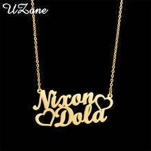 UZone 2020 Hot Sale Two Names Letters Necklace Love Heart Ne