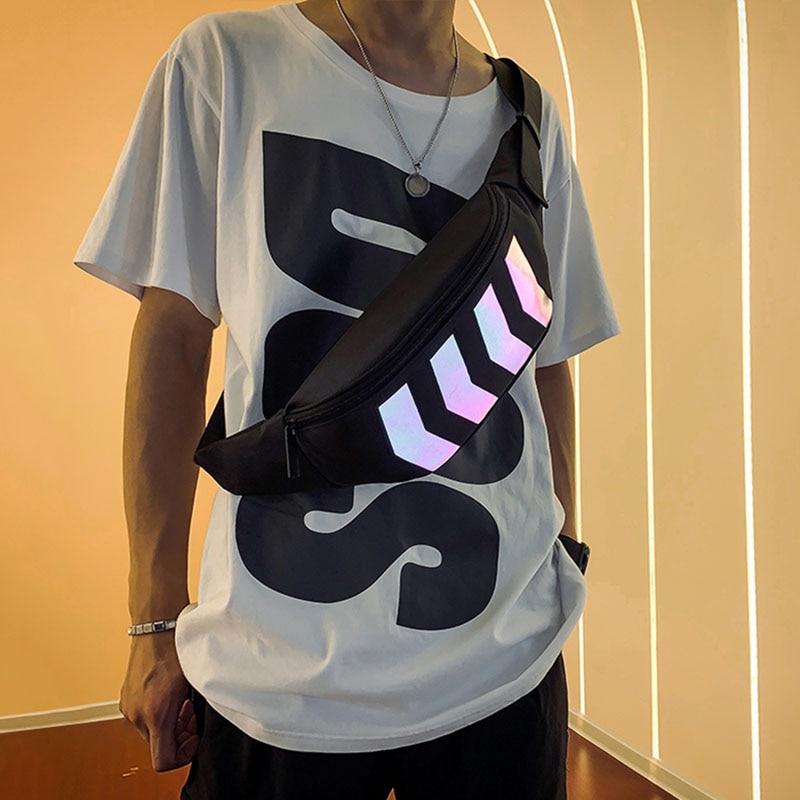 2019 Chest Bag For Men Waist Bag Women Street Reflective Banana Bag Trend Hip Bag Travel Kidney Bags Hip Hop Shoulder Pack