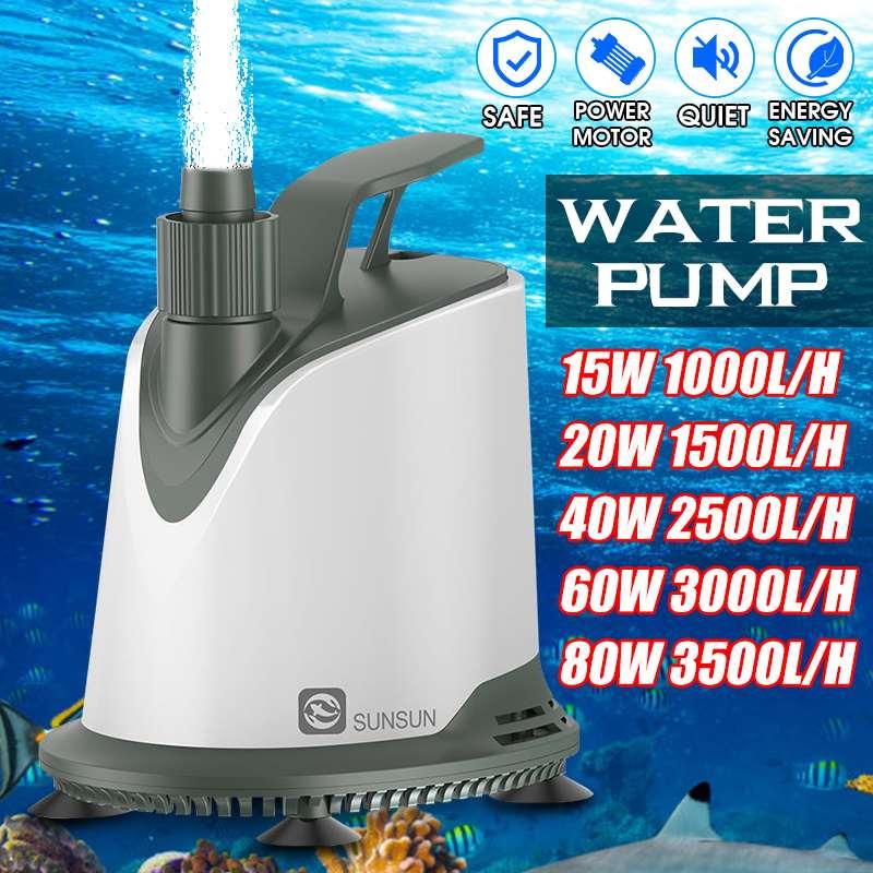 1000-3500L/H 15/20/40/60/80W Water Pump Submersible Pump For Aquarium Fountain Pond Pump Fish Tank Garden Pond Pump Fountains