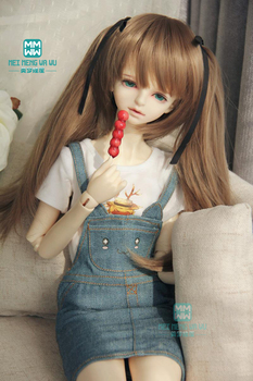 BJD accessories doll clother for 58-60cm 1/3 SD10 DD BJD doll T-shirt, denim shorts, strap skirt image