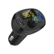 5В 3.4 a автомобильное зарядное устройство FM-передатчик громкой связи беспроводной автомобильный MP3-плеер USB и AUX Bluetooth автомобильный комплект можно подключить 2 телефона FM модулятор