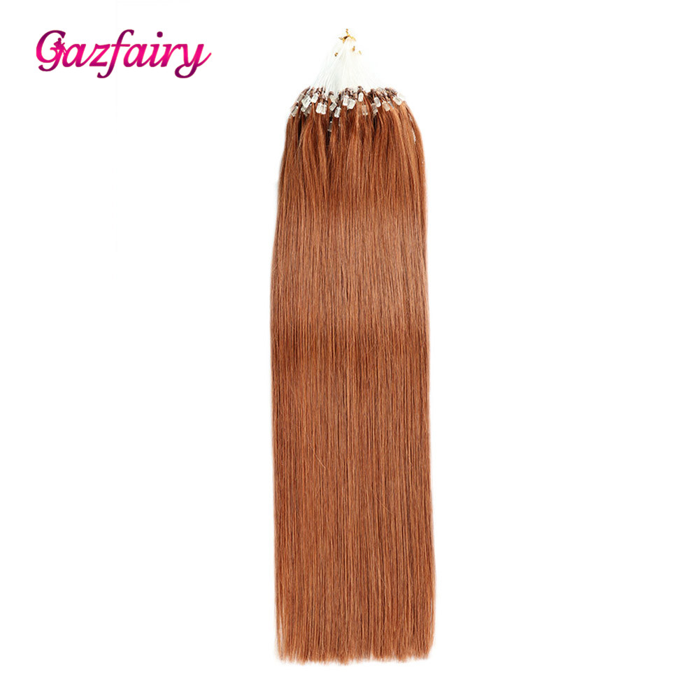 Gazfairy Silky Straight  1g/s 22 Inch 100g  Micro Ring Beads Remy Human Hair Extensions  Pre Bonded  Human Hair Italian Keratin