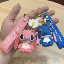 Hot Sale Stitch Couple Anime Doll Key Chain Accessories Backpack Pendant Children's Christmas Gift Couple Birthday Gift