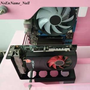 Image 2 - Bricolage métal carte graphique support Riser fixe Vertical ATX boîtier PCI E 16x x16 support interne Stent support