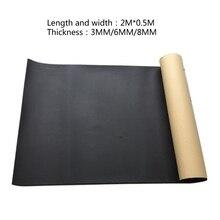 200cm x 50cm 3mm/6mm/8mm Adhesive Geschlossenzelligen Schaum Blätter Schalldichte Isolierung 6XDB