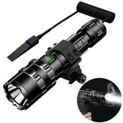 Tactische Zaklamp 1600 Lumen Usb Oplaadbare Zaklamp Waterdichte Jacht Licht Met Clip Hunting Shooting Gun Accessoires