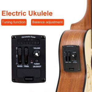 Image 2 - Kmise Electric Acoustic Ukulele Concert Solid Spruce Ukelele Uke 23 inch 18 Fret with Gig Bag