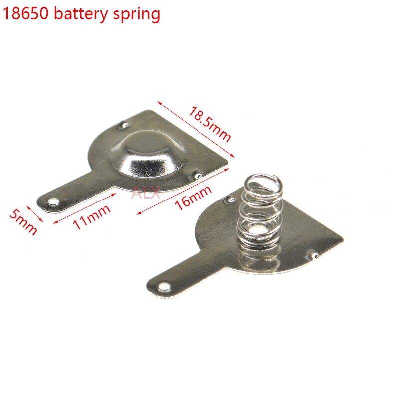 10 пар (20 шт.) 18650 аккумуляторных батарей 16 мм * 18,5 мм, пружинный контактный элемент аккумуляторной коробки, положительный и отрицательный одно...