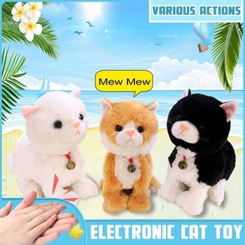 8 ruchów elektroniczne zwierzęta Robot kot dzieci pluszowe zabawki kontrola dźwięku interaktywny kora stojak spacer pluszowe zabawki świąteczne Cellucotton tanie i dobre opinie LBLA CN (pochodzenie) 3 lat robot cat 4*AAbatteries Unisex cats Zasilanie bateryjne Brzmiące Interaktywne electronic