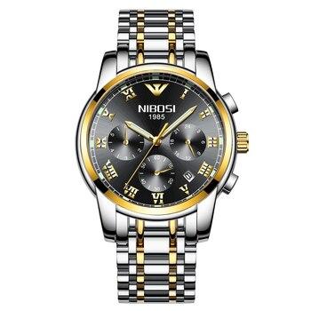 NIBOSI VIP 2 Stainless Steel  Fashion Mens Watches Top Brand Luxury Sports Quartz Watch Men Relogio Masculino 1
