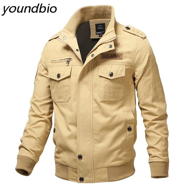 Military Jacket Men's Bomber Jacket Cotton Jackets Aurumn Winter Men Outerwear Casual Men Jackes Men Coats Mens Clothing M-6Xl 1