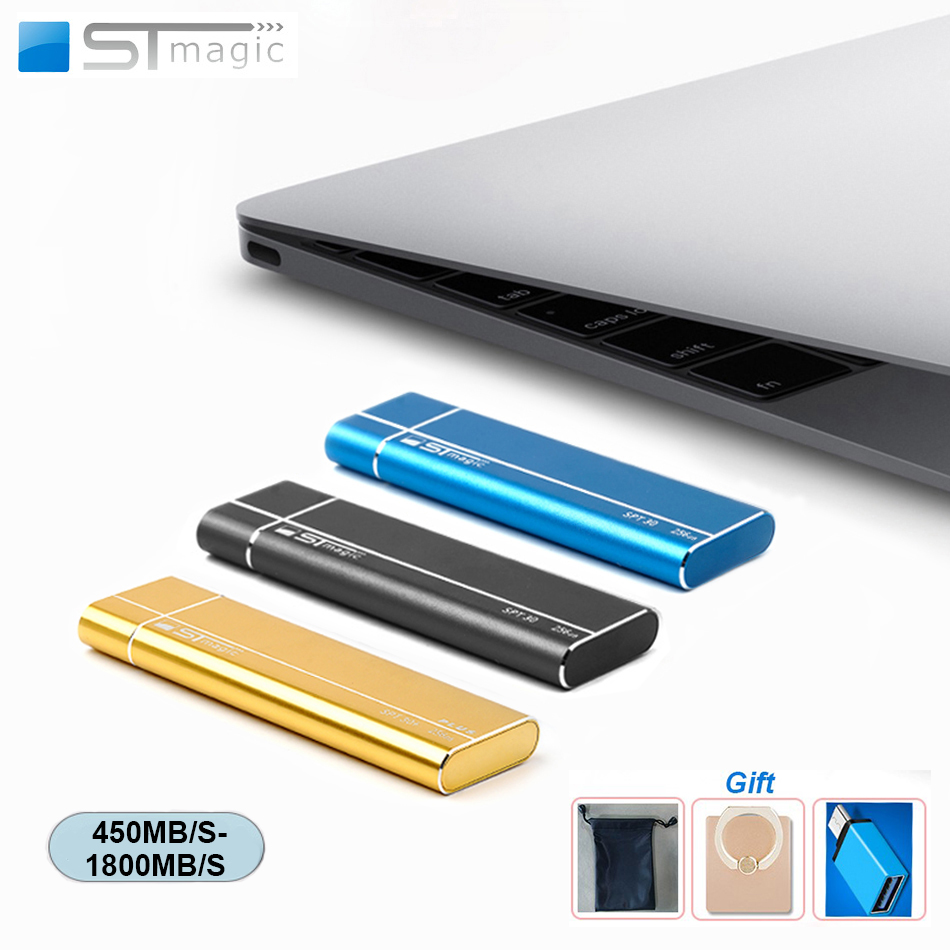 Stmagic Spt30 Metal USB 3.1 Typc-C Portable Solid State Drive 256GB 512GB 1TB 2TB External SSD 480MB/S for Laptop Android phone