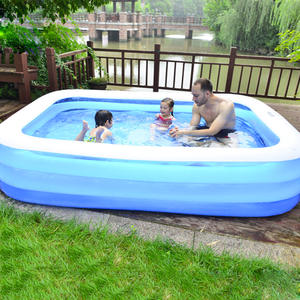 Swimming-Pool Bathing Rectangle Adults Inflatable Kids Children Summer PVC Tub Elements