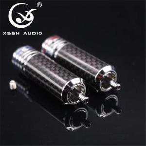 Image 2 - 4pcs/8pcs/16pcs XSSH audio RCA DIY HIFI carbon fiber RCA plug 10mm coaxial digital Audio signal cable plug jack connector