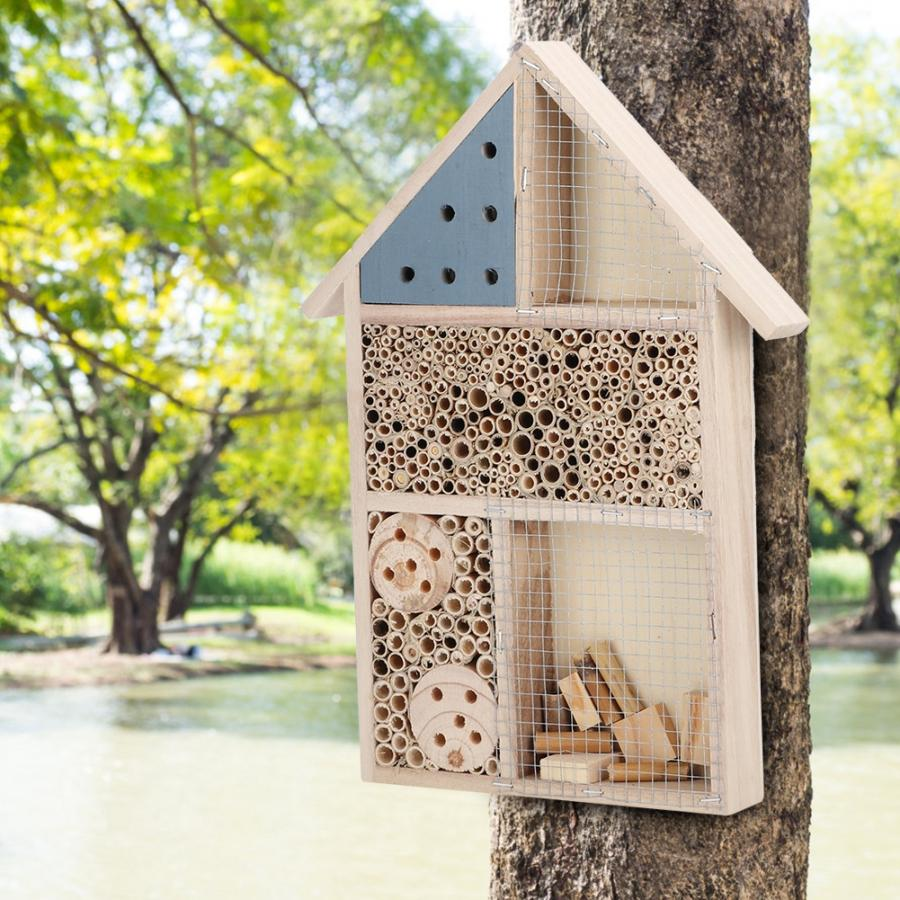 Bug House Wood Insect Hotel Bee Hotel Shelter Box