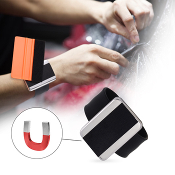 EHDIS Vinyl Wrap Magnetic WristBand Screw Bolt Scraper Squeegee Holder Hand Belt Tinting Film Portable Car Repair Bracelet Tool