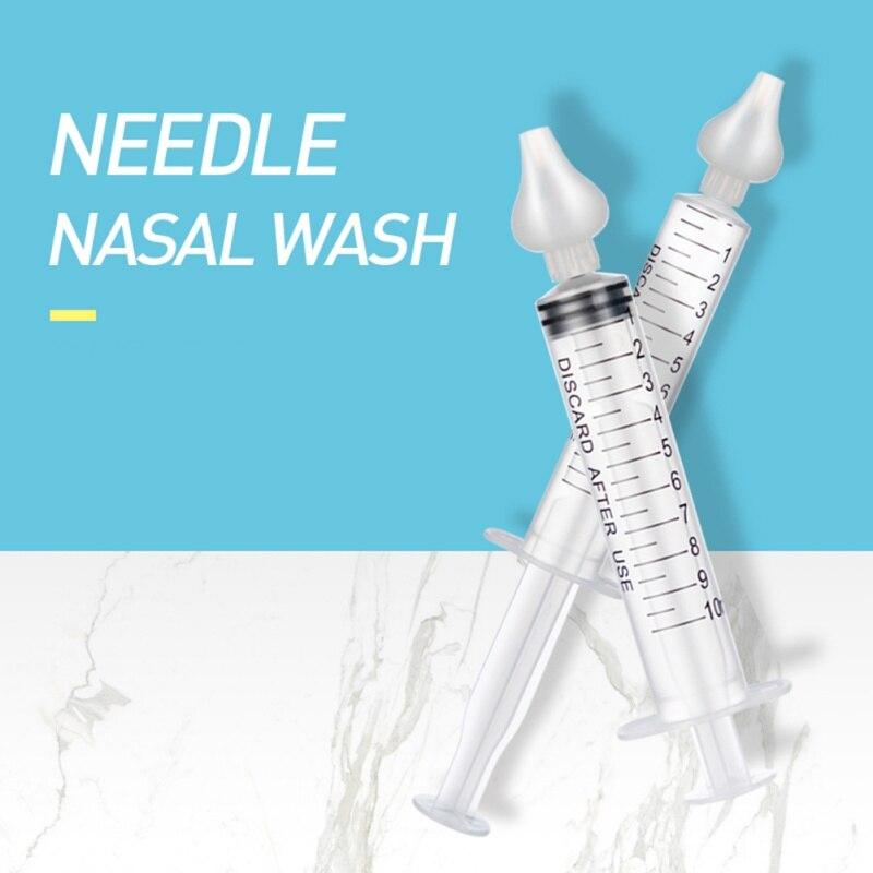 10ml bebê rinite arruela nasal agulha tubo cuidados com o bebê aspirador nasal mais limpo