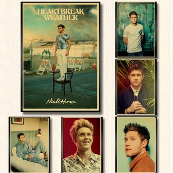 One Direction członek piosenkarka Niall Horan plakat Retro papier pakowy drukuje wyraźny obraz pokój Bar Home Art obraz naklejka ścienna tanie i dobre opinie lanxihaibao CN (pochodzenie) POSTER Pojedyncze Wodoodporny tusz Bezramowe lustra AMERYKAŃSKI STYL Malowanie natryskowe