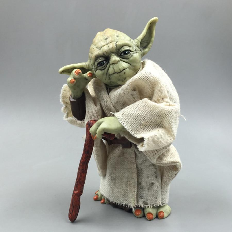 Star Wars Monster Yoda Darth Vader Action Figure Doll Toys The Force Awakens Jedi Master Yoda Anime Figures Lightsaber 2