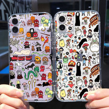 Classic movie Cute Totoro Ron weasley College Phone Case For IPhone 12 PRO 11 Pro MAX XS 8 7 Plus X XR SE 2020 Soft Shell CASE