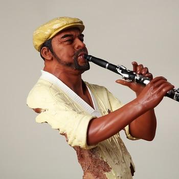 Abstract Pub Clarinet Player Bust Handmade Resin Instrumentalist Statue Musician 6