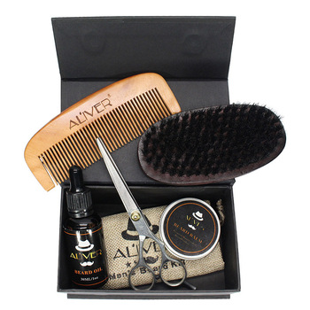 Newly Men Beard Care Grooming Trimming Kit Unscented Beard Conditioner Oil Mustache for Shaping Growth CTN88 4