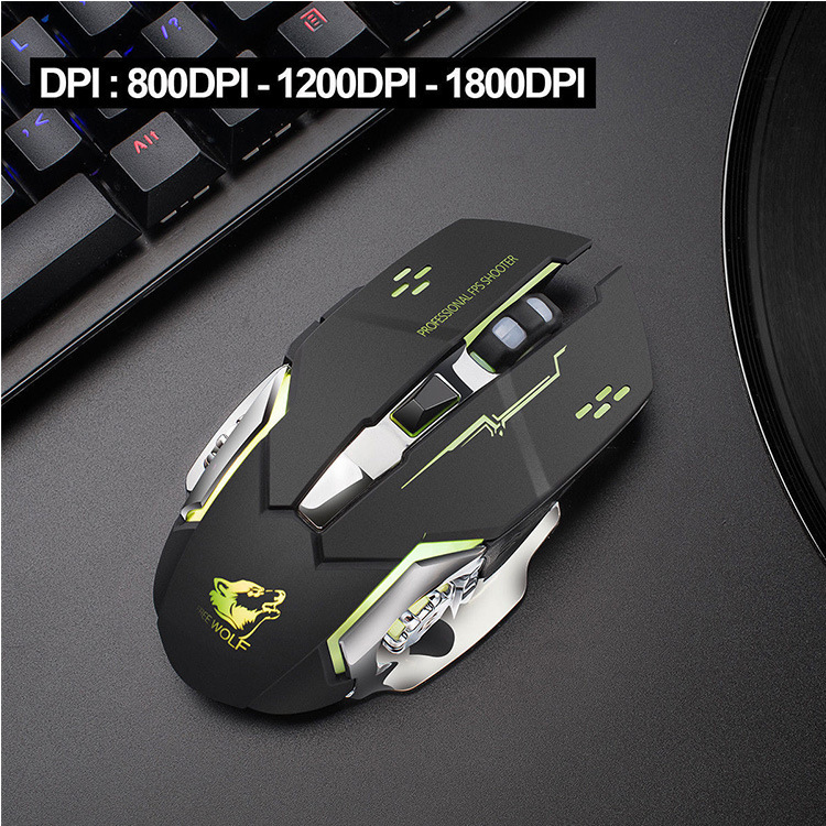 Drop ship Rechargeable Wireless Silent LED Backlit USB Optical Ergonomic Gaming Mouse LOL Gaming Mouse Surfing Wireless Mouse 2
