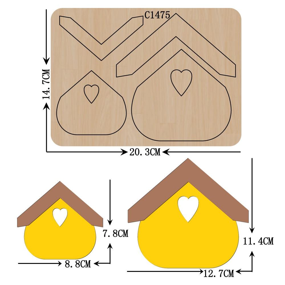 New house Wooden die Scrapbooking C-1475 Cutting Dies Multiple sizes