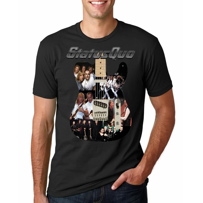 Status Quo Rock Band Instruments White Men T Shirt
