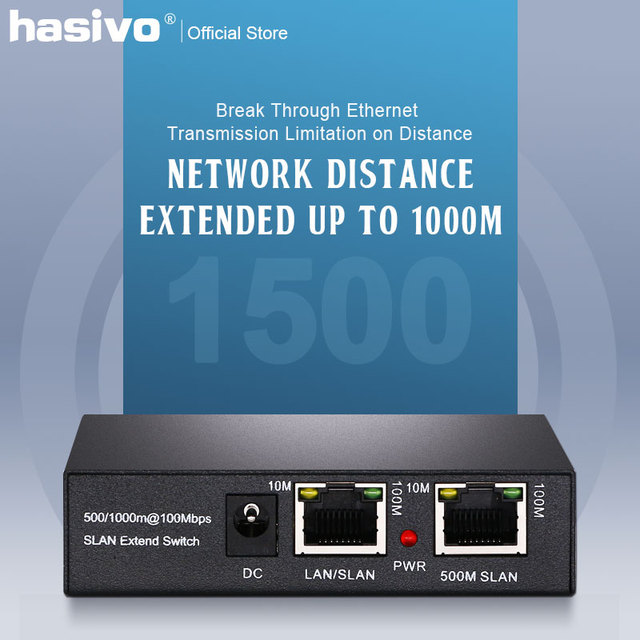 One pair PoE Network Ethernet Switch PoE Extender 500/1000 meters  1 port 10/100M Rj45 input  1 port 10/100M Rj45 output