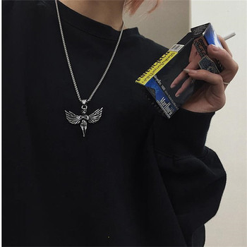 Ins personalidad hip hop street retro wings little angel collar Cupido colgante accesorios para hombre y mujer al por mayor