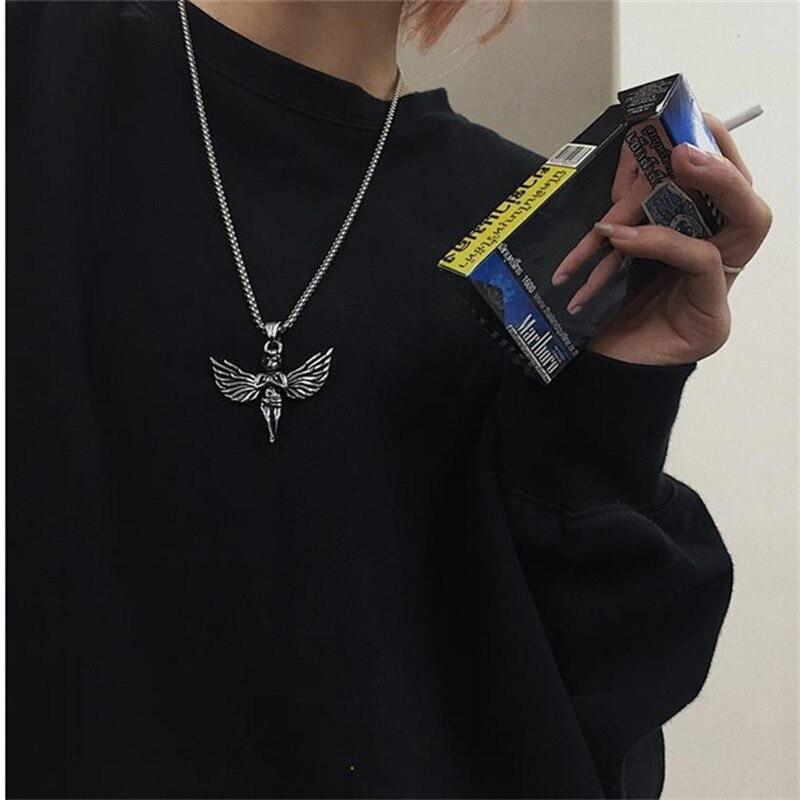 Ожерелье с кулоном «маленький ангел» в стиле хип-хоп для мужчин и женщин
