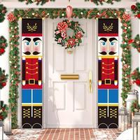 Nussknacker Soldat Banner Weihnachten Dekor Für Home Frohe Weihnachten Tür Decor 2021 Weihnachten Ornament Frohes Neues Jahr 2022 Navidad