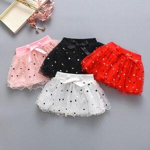 2020 nueva entrega niños dulces precioso vestido de gasa bebé falda dot 4color 0-3 años