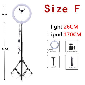 10 Inch Led Ring Light with Tripod Rim Ringlight Selfie Photo Round Ring Lamp Right Light for Smartphone Photography Shooting 10