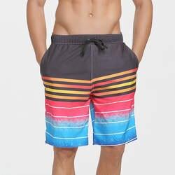 Мужские шорты-боксеры повседневные праздничные Большие размеры мужские быстросохнущие шорты пляжные шорты с принтом большие шорты
