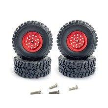 Für WPL C14 C24 C34 C44 B14 B24 MN D90 D91 D99 MN99S RC Auto Upgrade Teile Metall Felge reifen Reifen Set Zubehör