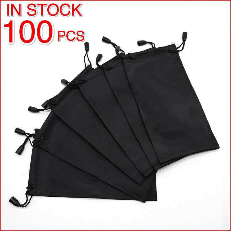 100pcs/lot Wholesale Bulk Sale Soft Glasses Bag Sunglasses Case Waterproof Dustproof Eyeglasses Pouch Eyewear Accessories Solid(China)