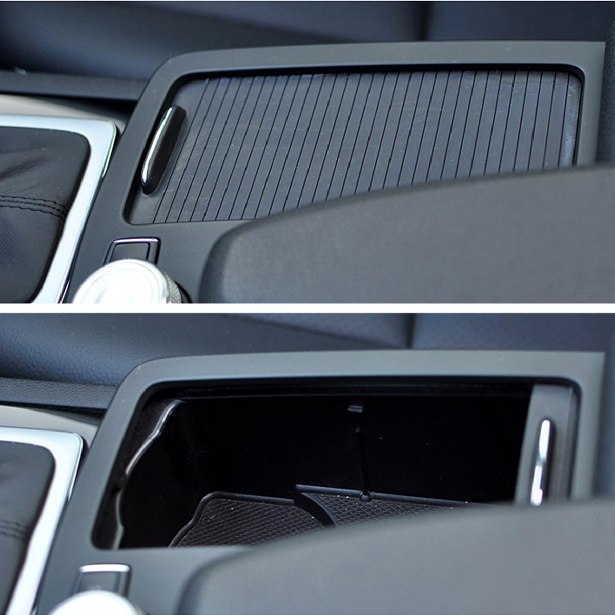 Car Center Console Cover Cup Holder Roller Blind C/E Class Cup Holder Storage Box Trim For Mercedes For Benz W204 C180 C200 S204